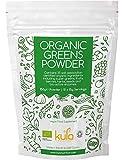 Polvo de superalimento orgánico - 150 g - Mezcla de suplementos dietéticos veganos hecha de 35 alimentos orgánicos como cebada activada pre-germinada, linaza, pasto de trigo, quinua, espirulina y más.