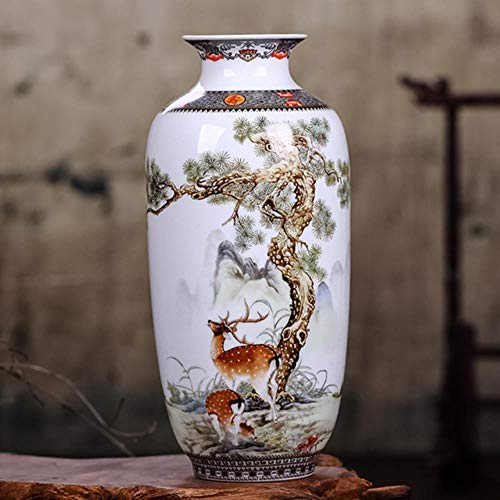 TUA - Jarrón de cerámica de estilo chino, diseño de animales