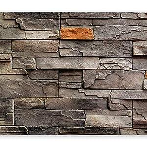 murando Fotomurales 400x280 cm XXL Papel pintado tejido no tejido Decoración de Pared decorativos Murales moderna Diseno Fotográfico Piedra Piedras optica Muro f-B-0063-a-c