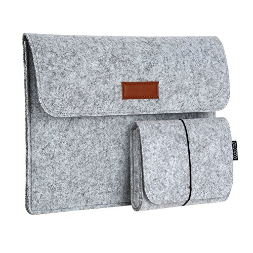 dodocool 13.3 Inch Laptop Felt Sleeve Carrying Case with Mouse Pouch for Apple 13' MacBook Air / 13' MacBook Pro / 13' MacBook Pro Retina and Most 13-13.3 Inch Laptop