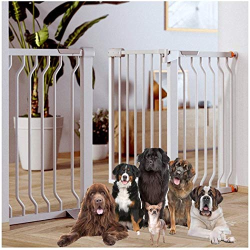 Baby Gate Stairway Guardrail Baby Safety Gate Guardrail Baby Child Fence Pet Fence Dog Folding Dog Bar (Couleur: Blanc, Taille: 174-181cm)