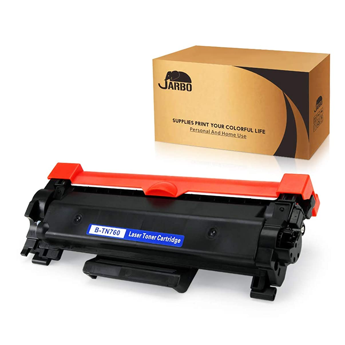 JARBO Compatible Toner Cartridges Replacement for Brother TN760 TN730 High Yield, Use with Brother HL-L2350DW HL-L2370DW HL-L2370DWXL HL-L2390DW HL-L2395DW DCP-L2550DW MFC-L2710DW MFC-L2750DW Printer