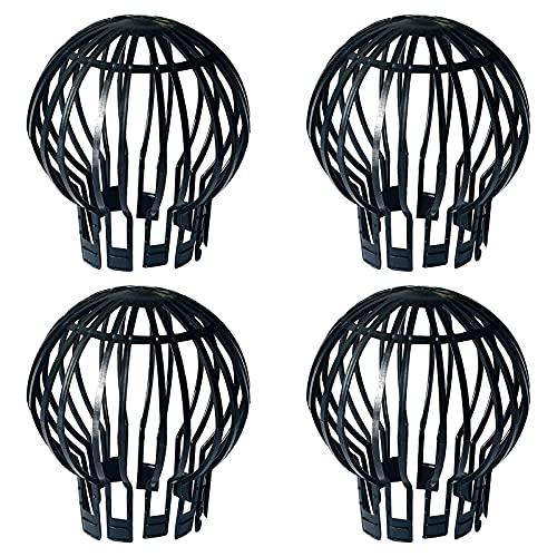 FEMONGY Protector de canalones, 4 piezas Canalon, Canalones, Hecho de plástico, duradero,...