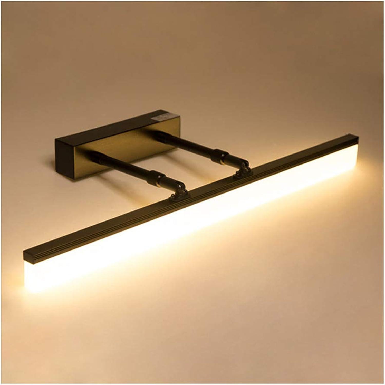 MWG Einziehbare Arme führten Spiegel-Scheinwerfer, moderne Badezimmer-WC-wasserdichte Nebelspiegel, warme Spiegel-Scheinwerfer -46874 (Farbe   Schwarz-400mm)