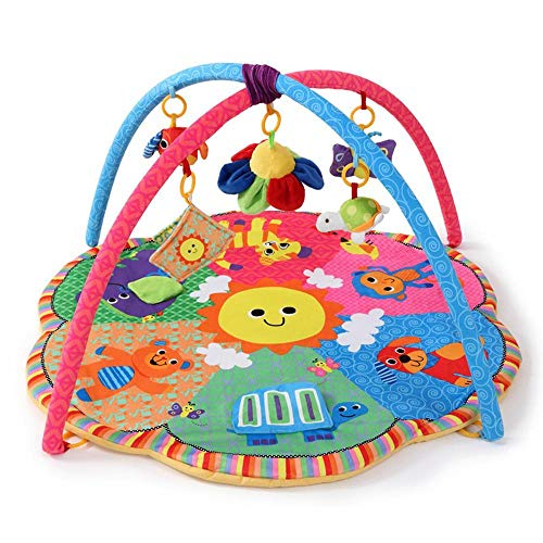 Tcaijing Tapis pour Enfants Bébé Tapis de Jeu,Entraînement de Couverture bébé Puzzle Jeu Jouets Pleine Lune Rack de Gym Cadeau 0-2 Ans