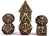 Set Dadi D&D Dungeons&Dragons, Vuoto Dadi da Gioco Poliedrici Metallo Dice Set Rpg, per Du...