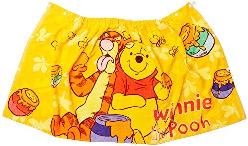 【 Disney 】 ディズニー ラップタオル + ミニタオル セット 60cm丈 スナップ 付き タオル 巻きタオル (くまのプーさん(60cm丈))