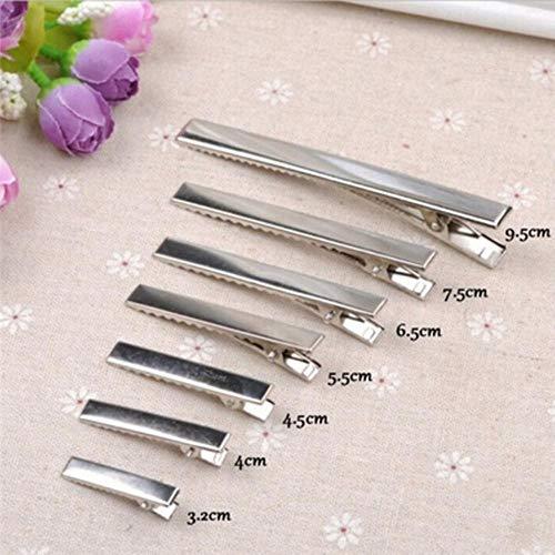 50 stuks zilver vlakke metalen single prong alligator haarspelden haarspeld voor boogjes DIY accessoires haarspelden 32 mm / 35 mm / 40 mm / 45 mm 4cm 50St