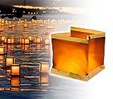 747012 Pack 5 Lanterne galleggianti con candela tea light inclusa quadrata. MWS