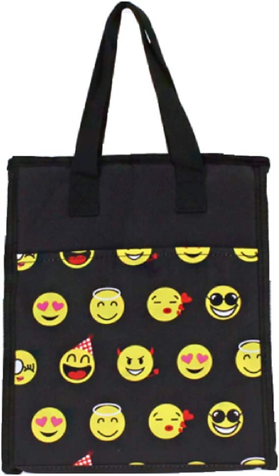 BB Jp Smiley Face School Insulated Lunch Box Bag Camp Travel Cas