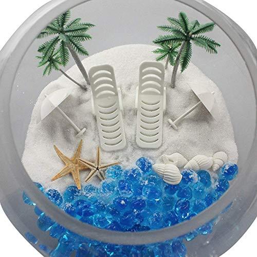 musykrafties Sommer-Strandstühle mit Regenschirmen für Aquarien, Terrarien, Miniatur-Garten, Feengärten, Puppenhaus, Kuchendekoration