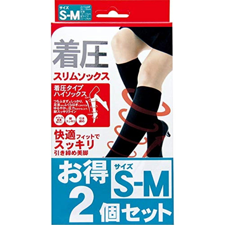 男静脈効率的に着圧スリムソックス 2足セット S-M