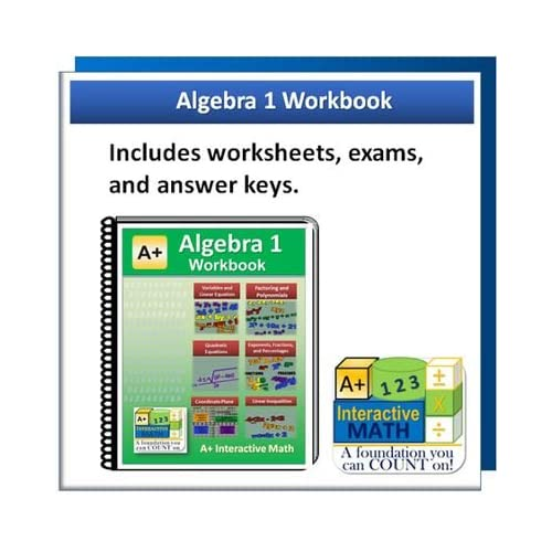 Algebra 1 Worksheets: Amazon com