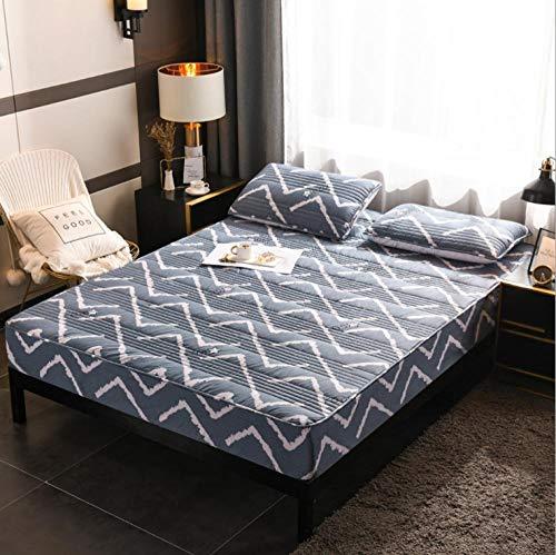 GSYHZL Bedding Sábana Bajera Ajustable,Funda de colchón Plegable para niños Protector Lavable KingFitted Sábana Sábana Colcha-4_150x200cm + 30cm