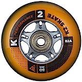 K2 Hi-Lo 8 Pack ILQ 7, Set di Rotelle per Pattini in Linea, 84 mm, Colore Nero/Arancio, Co...