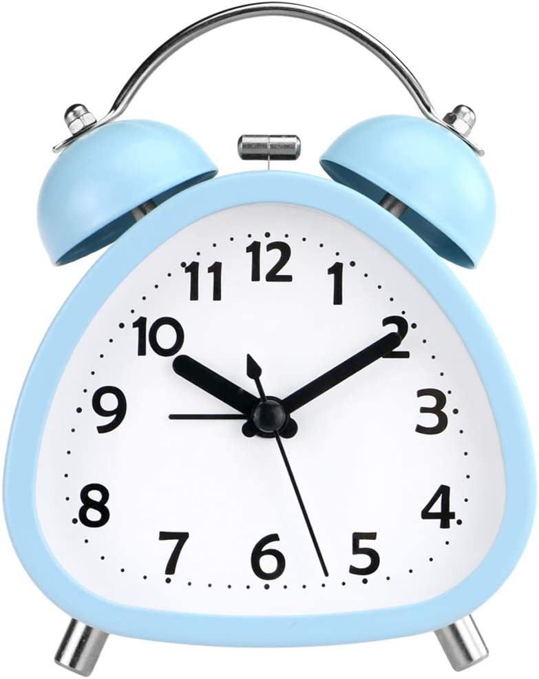 """PILIFE Fashion 3"""" Small Gorgeous Triangle Analog Alarm Cute Clock Bell Twin"""