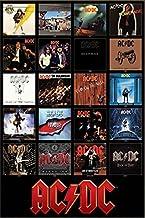 أغطية ألبوم Discography من Buyartforless AC/DC 1976-2014 36x24 ملصق مطبوع فني موسيقى ACDC 24x36 Print AQ 241335