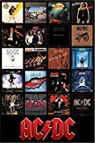 AC/DC Discography Album Covers 1976-2014 36x24 Music Art