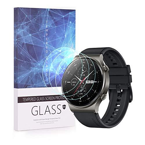 Protector de pantalla HuaWei Watch GT 2 Pro de BECEMURU, cobertura completa de cristal templado Huafly 9H para reloj inteligente HuaWei Watch GT 2 Pro/GT 2 Pro ECG (3 unidades)