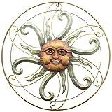 SIDCO Sonne Metall Wand Hänger Wanddeko Wandschmuck Terrasse Garten Deko Design