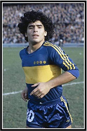 Lienzo De Impresión 30x50cm Sin Marco Diego Maradona Argentina Soccer Football Star Sticker Silk Poster Art Light Home Decoration