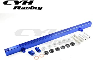Aluminum Fuel Injector Rail Kits For Nissan Skyline GTS-25 R32 RB25 RB25DET -Blue