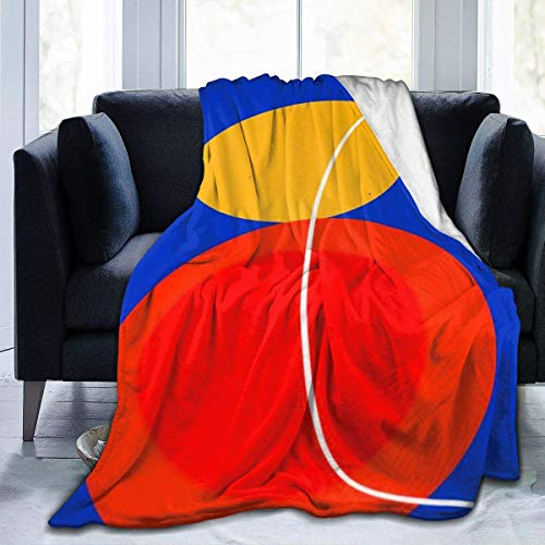 AEMAPE Rojo Amarillo Negro Azul círculo Abstracto Zen Manta de Tiro Manta Suave y cálida para Cama Ropa de Cama sofá Oficina Sala de Estar