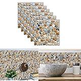 3D Adesivi per Piastrelle,Yueser 24 Pezzi Piastrelle Trasferimenti Impermeabile Autoadesivo Adesivi per Piastrelle per Bagno Cucina Parete Adesivi Pavimento (gray)