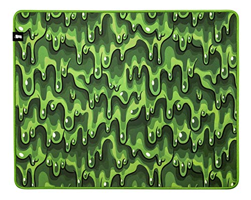Monolith M-508: Slime Mouse Pad - XL Pro Gaming Mouse Pad, Durable Cloth Surface, Stitched Anti-Fray Edge   20x16x0.2'   508x406x5mm (M-508: Slime)
