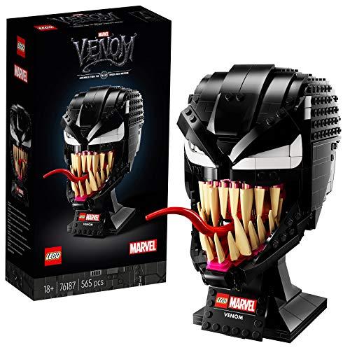LEGO 76187 Marvel Spider-Man Venom Mask, Super Heroes Maqueta para Construir para Adultos, Set de Superhéroe Coleccionable
