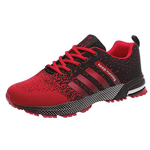 Qimaoo Herren Casual Sportschuhe Mesh Atmungsaktive Sneakers Leicht Laufschuhe Schwarz Grau Slip on Schuhe mit Schnürsenkel