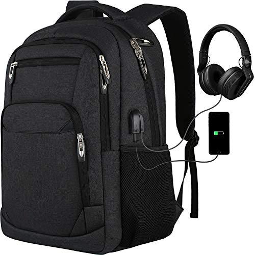 Laptop Rucksack Schulrucksack für 15.6 Zoll Laptop Daypacks für Herren Business Rucksack mit USB Ladeanschluss, Oxford,35L