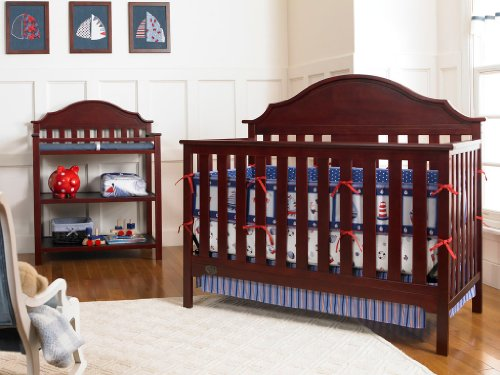 Find Bargain Serta Hanover Fixed-Side Convertible Crib, Classic Cherry (Discontinued by Manufacturer...
