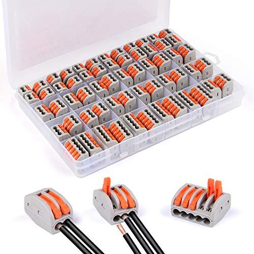 profesional ranking Bloque de conexión eléctrica, 60 enchufes de cable compacto VibeeyLever … elección