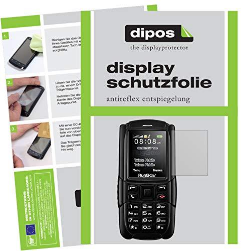 dipos I 2X Schutzfolie matt kompatibel mit RugGear RG129 Folie Bildschirmschutzfolie