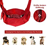 SlowTon Pet Dog Cat Hand Free Sling Carrier Shoulder Bag Adjustable Padded Shoulder Strap Tote Bag with Front Pocket Outdoor Travel Puppy Carrier for Walking Daily Use 14