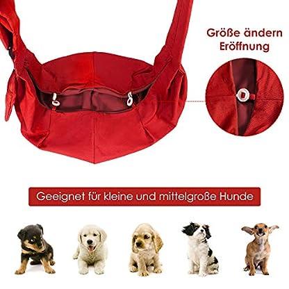 SlowTon Pet Dog Cat Hand Free Sling Carrier Shoulder Bag Adjustable Padded Shoulder Strap Tote Bag with Front Pocket Outdoor Travel Puppy Carrier for Walking Daily Use 7