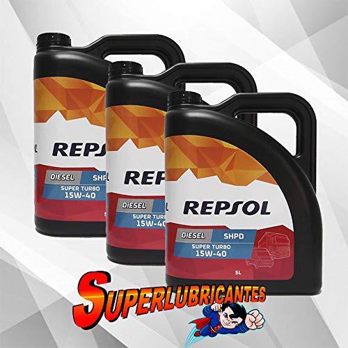 Mundocoche Repsol Elite Diesel Super Turbo 15W40 SHPD 3x5L(15Litros)