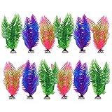 Nobleza - 12 Piezas Plantas Acuáticas Artificiales, Grandes Plantas de Acuario, Decoraciones para Peceras, Plantas hidropónicas de plástico simuladas para acuarios domésticos y de Oficina 20cm