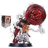 Anime One Piece Figura, 25CM 4 Gear Kong Gun Monkey D Luffy Figura, PVC Figura Estatua Figura de acción Figura Coleccionable