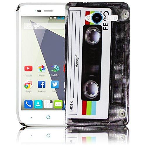 thematys Passend für ZTE Blade L3 - Kassette Silikon Schutz-Hülle weiche Tasche Cover Hülle Bumper Etui Flip Smartphone Handy Backcover Schutzhülle Handyhülle