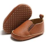 Timatego Baby Boys Girls Loafers Shoes Slip On PU Leather Moccasin Sneaker Infant Toddler First Walker Dress Oxfords Crib Shoes(3-18 Months) 6-12 Months Infant, 03 Brown Baby Loafers