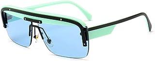 BAN SHUI JU MINSU GUANLI - BAN SHUI JU MINSU GUANLI Gafas de Sol Modernas Ultra integradas montadas en Espejo Juventud Y Elegancia (Color : C4 Green Blue)