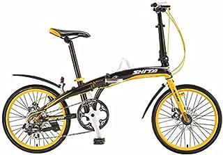 ZTBXQ Regalo Deportivo ldeas Freestyle Bicicletas para niños Cambio de Marchas Bicicleta Plegable Aluminio Bicicleta para ...