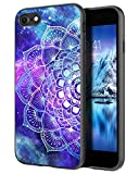 DOMAVER iPhone SE 2020 Case, iPhone 7 Case, iPhone 8 Case Nebula Mandala Design Luminous Glow in The Dark, Slim Lightweight Anti-Slip Bumper Flexible TPU Shockproof Protective Phone Cover