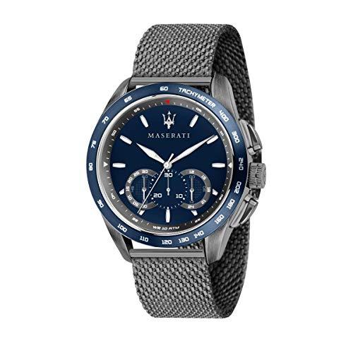 Orologio da uomo, Collezione Traguardo, con movimento al quarzo e funzione cronografo, in acciaio e PVD canna di fucile - R8873612009