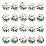 Moritic 20 piezas Prisma de bola de cristal de cristal, 0.8 '/ 20mm Colgantes de atrapasol de cristal Fabricante de arco iris, Prisma de cristal colgante
