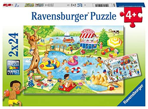 Ravensburger Kinderpuzzle 05057 - Freizeit am See - 2 x 24 Teile