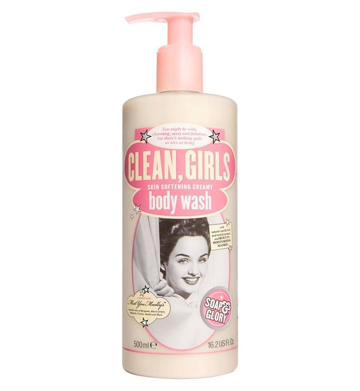 本当にはねかける句読点Soap & Glory Clean Girls Body Wash 500ml by Soap & Glory [並行輸入品]
