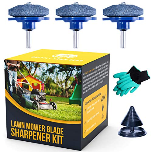 Grizzly Lawn Gear Lawn Mower Blade Sharpener Drill Attachment Kit